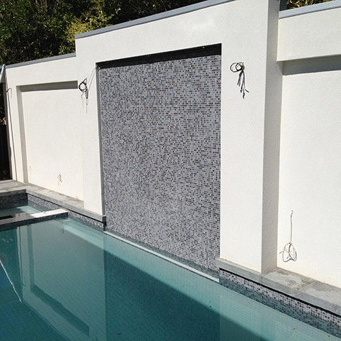 Swimming Pool & Feature Wall